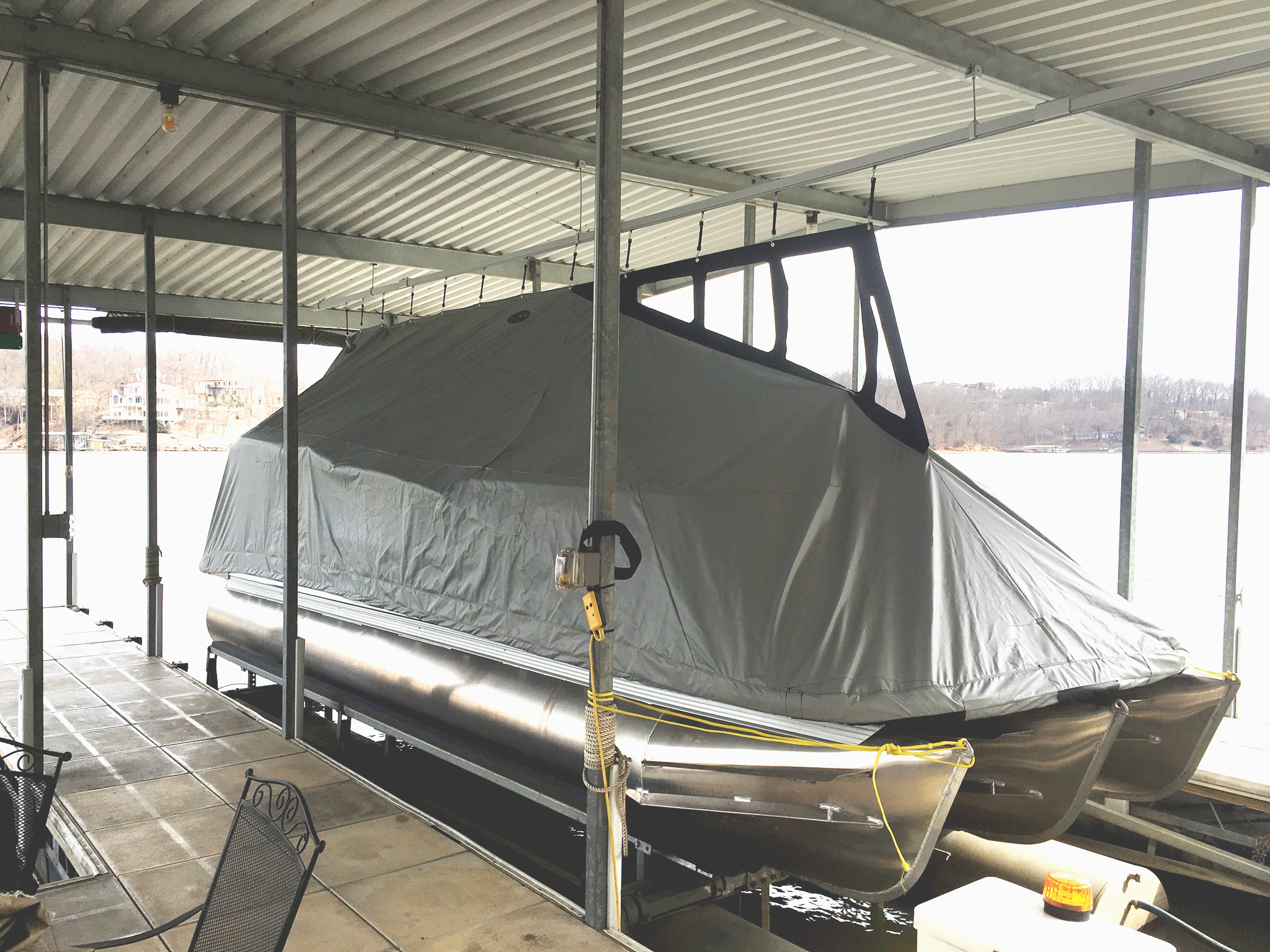 Custom Pontoon Boat Cover