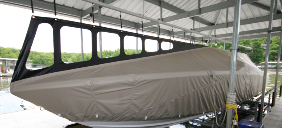 Custom Track System Boat Cover